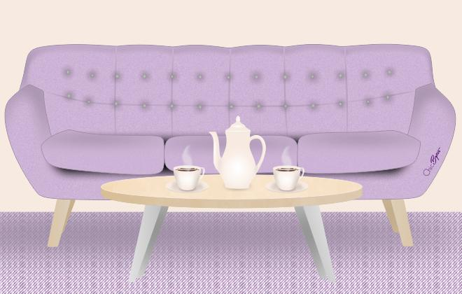 Chic Bytes Sofa and Coffee Scene