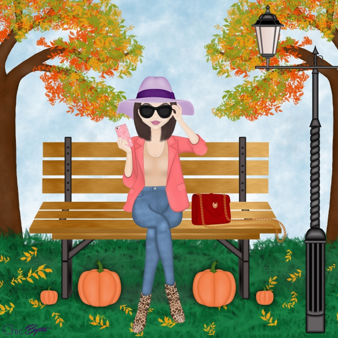 Camille Autumn Park Bench Version 2 low resolution