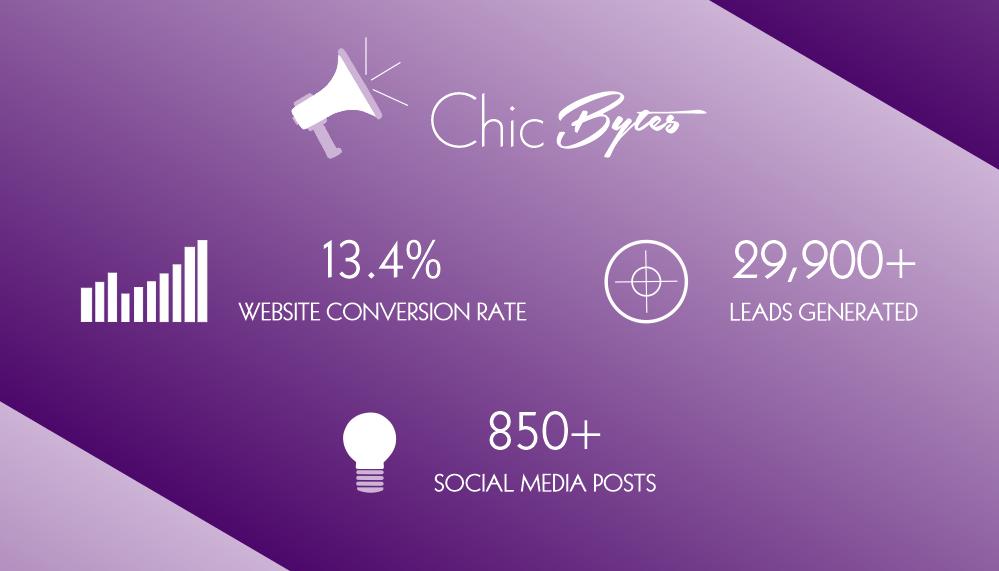 Chic Bytes Social Media Stats Version 3
